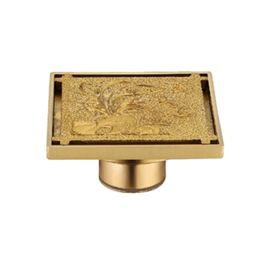 Golden Bathroom Fitting Insert Style Shower Waste Cover