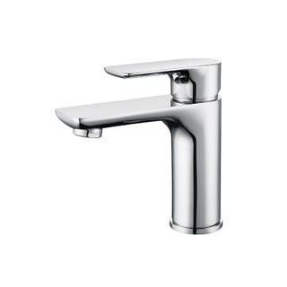 Single Handle Single-Hole Waterfall Copper Bathroom Water Faucet