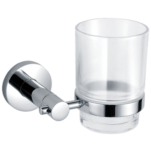 Contemporary Design Single Glass Toothbrush Holder