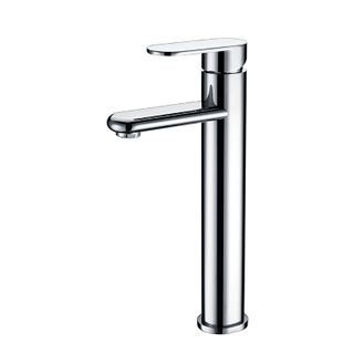 Modern Tall Single Hole Brass Bathroom Basin Taps