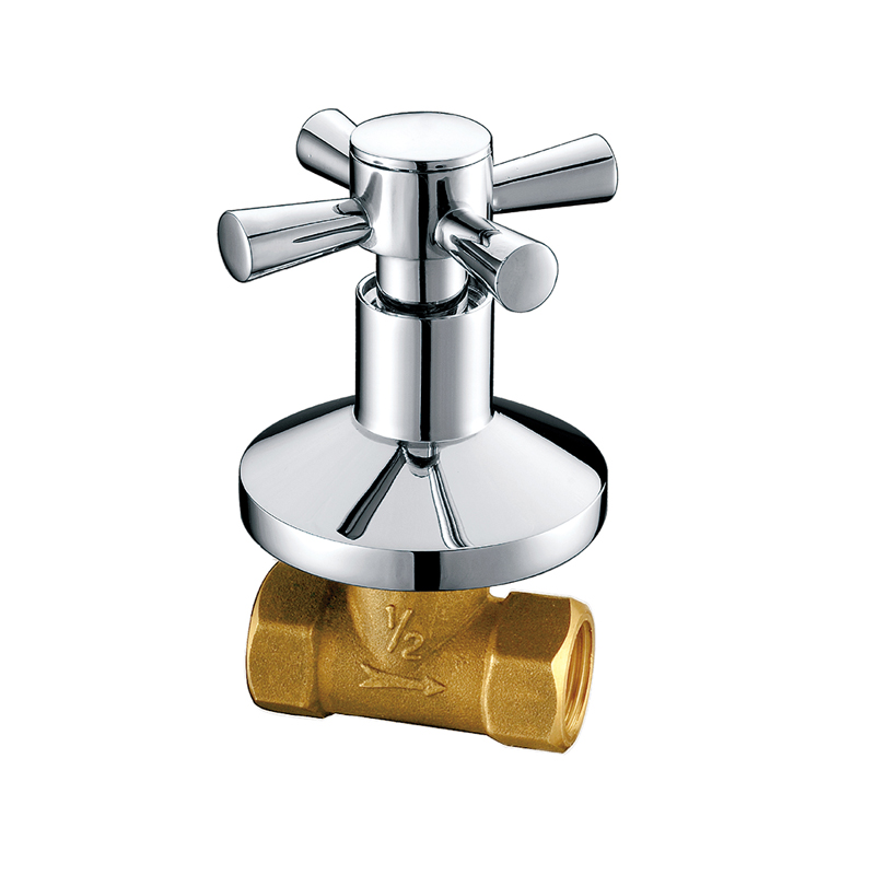 Contemporary Single Handle Brass Bathroom Stop Cock