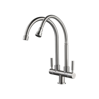 Single Level Stainless Steel Kitchen Sink Faucets With Favorable Price