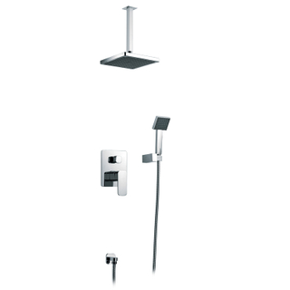 Shower Set For Bathroom Wall Mounted Four Function Concealed Rain Shower Faucet Set