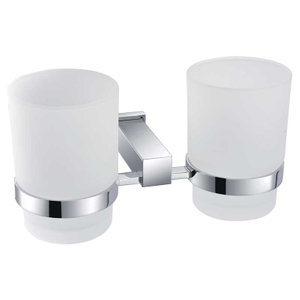 Contemporary Design Double Glass Toothbrush Holder BP9203S