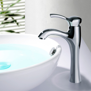 Tall body Sanitary Wares New Modern Single Handle Lever Brass Aqua Bathroom Basin Faucet