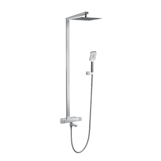 Wall Mounted Thermostatic Shower Mixer With 9'' Brass Head