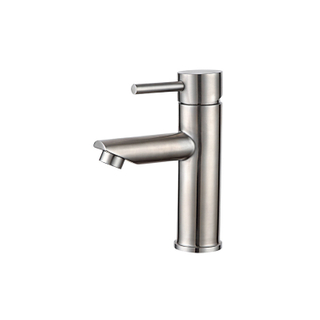 Modern hot cold water single handle stainless steel sink faucet for bathroom