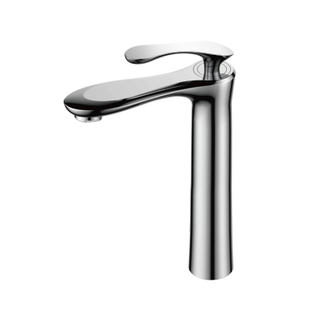 Modern Single Handle Brass And Ceramic Bathroom Basin Taps