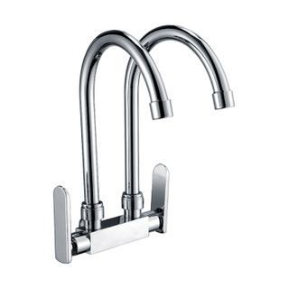 Dual Handle Kitchen Faucet For Washing Vegetables Fruits And More