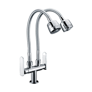 Kitchen Dual Handle Cold Hot Filter Water Faucet 3 Way Faucet