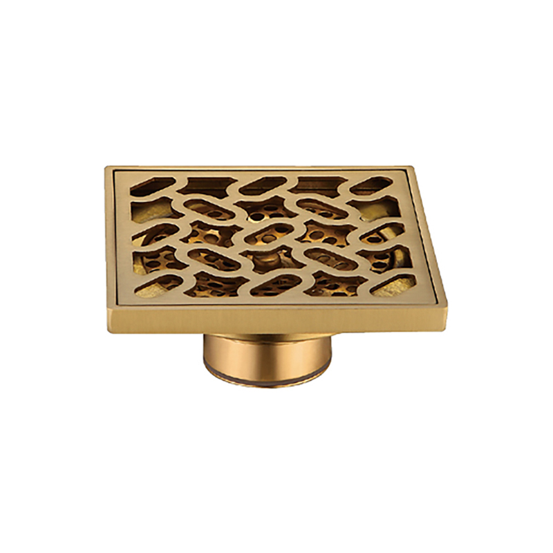 Recessed Design Golden Metal Shower Drain Parts DL26