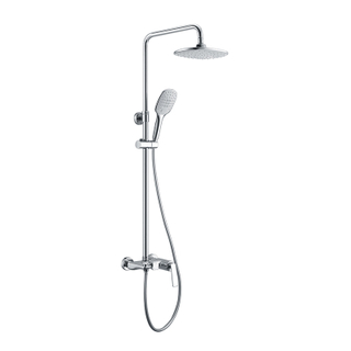 Exposed Polished Brass Shower Fixtures With Handheld
