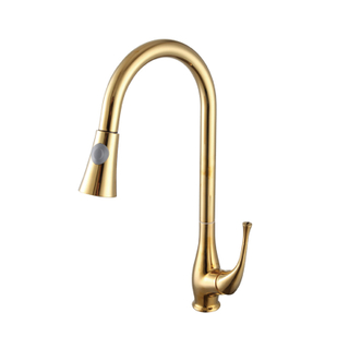 contemporary single handle single hole pull out kitchen faucet