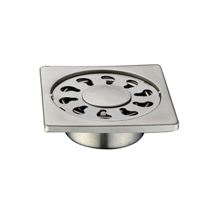 Modern Types Chrome Brass Bathroom Floor Drain Trap