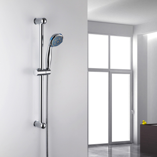 Adjustable Brass Bathroom Shower Lift Rod Sliding Bar