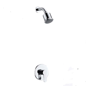 One Handle Brass Wall Mounted Rain Concealed Bathroom Match Shower Set With Handheld Shower