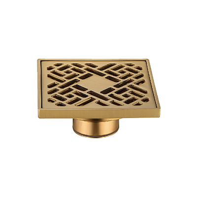 Golden Color Kitchen And Laundry Brass Floor Drain Plug
