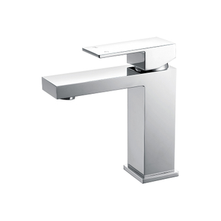 Bathroom Lavatory Faucets With Polished Double Handle