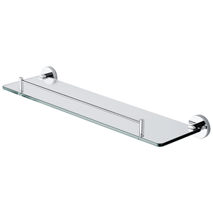 SUS304 Bathroom Single Glass Shelf