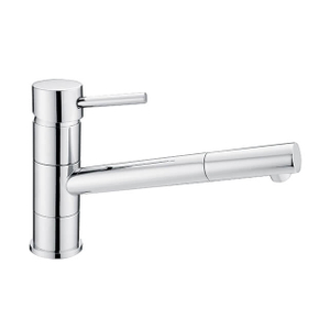 Watermark Brass Kitchen Faucet | Pull Out Chrome Kitchen Sink Faucet with Sprayer