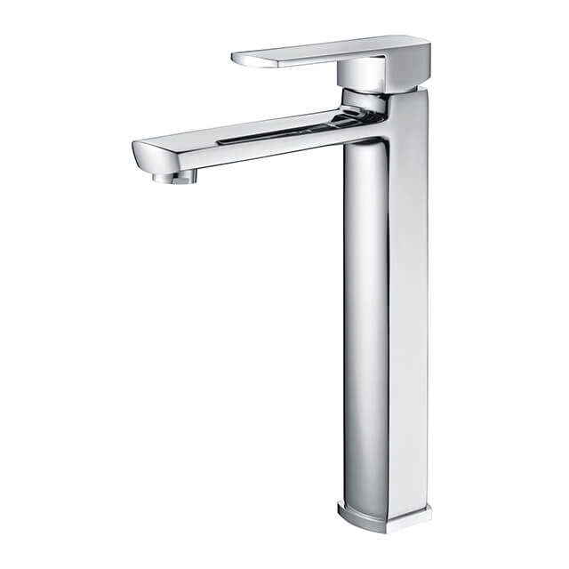 Chrome Basin Faucet | Single Handle Single Hole Bathroom Sink Faucet | Tall Body Deck Mounted Basin Faucet