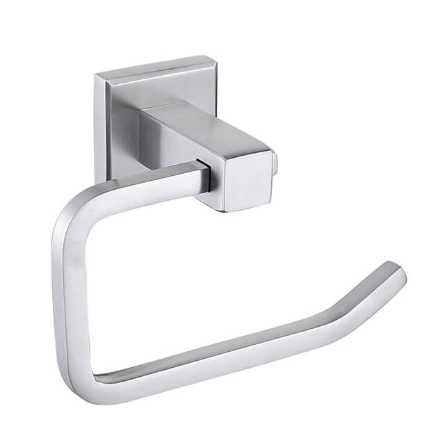 SUS304 Stainless Steel Toilet Paper Holder | Square Style Brush Nickel Toilet Paper Holder | Bathroom Toilet Roll Holder Wall Mounted