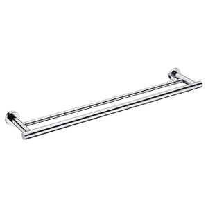 Double Towel Bar | Brass Wall Mounted Towel Bar Holder | Bathroom Chrome Towel Bar Holder