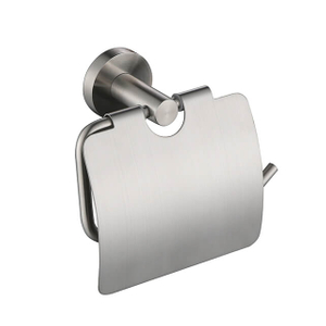 Toilet Paper Holder | Stainless Steel Toilet Paper Holder with Cover | Wall Mounted Toilet Paper Holder