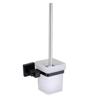 Stainless Steel Toilet Brush Holder | Square Brush Nickel Toilet Brush Holder | Toilet Brush Holder Wall Mounted
